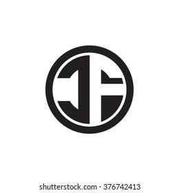 CF initial letters circle monogram logo