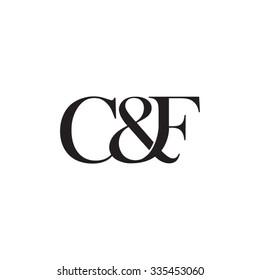 C&F Initial logo. Ampersand monogram logo