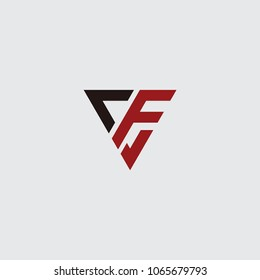 cf initial logo vector, design