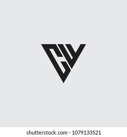 cf initial logo vector, triangle