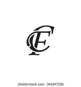 CF initial monogram logo