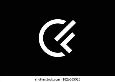 CF letter logo design on luxury background. FC monogram initials letter logo concept. CF icon design. FC elegant and Professional white color letter icon design on black background. C F FC CF