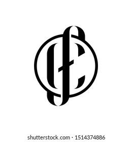 CF letter logo icon. FC logo icon.