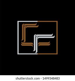 CF Letter monogram with abstract concept style design