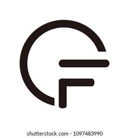 cf letter vector logo