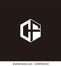 CF Logo Initial Monogram Negative Space Designs Templete