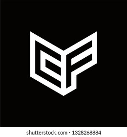 CF Logo Letter Initial Monogram Capital Designs Templete