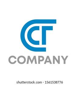 CF logo vector design template sign