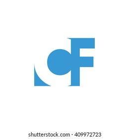 CF Logo | Vector Graphic Branding Letter Element | jpg, eps, path, web, app, art, ai | White Background