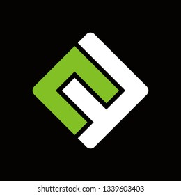 cf square typography vector logo