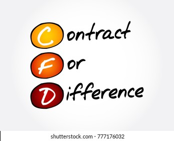 CFD – Contract For Difference acronym, business concept background