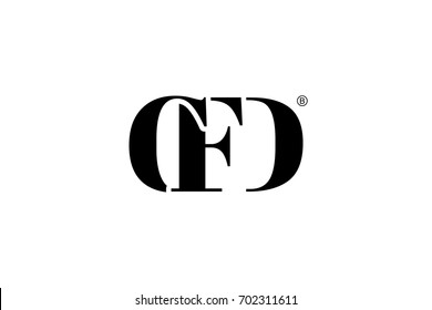 CFD Logo Branding Letter. Vector graphic design. Useful as app icon, alphabet combination, clip-art, and etc.