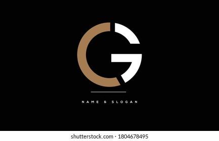 CG ,GC ,C ,G  Abstract Letters Logo Monogram