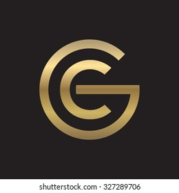 CG or GC letters, golden circle G shape