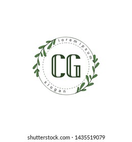 CG Initial beauty floral logo template