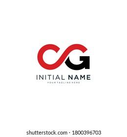 CG letter alphabet abstract logo vector