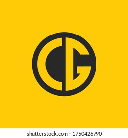 CG logo designed with letter C g in vector format.