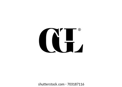 CGL Logo Branding Letter. Vector graphic design. Useful as app icon, alphabet combination, clip-art, and etc.