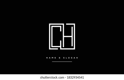 CH ,HC ,C ,H  Abstract Letters Logo Monogram