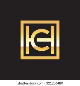 CH HC initial company, golden square frame