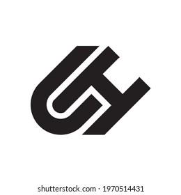 CH HC letter modern vector logo design
