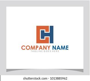 CH initial letter logo design vector eps 10