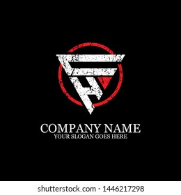 CH Initial logo inspirations, gym logo template