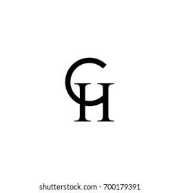 ch letter initial logo design