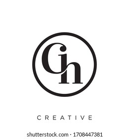 ch logo design vector luxury icon