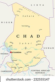 Map Chad Images, Stock Photos & Vectors   Shutterstock