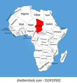 Lake Chad In Africa Map.Ilustraciones Imagenes Y Vectores De Stock Sobre Lake Chad