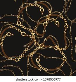 chain belt pattern, golden chain belt design