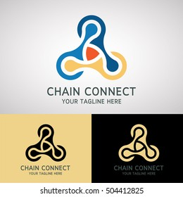 Chain Connect Logo Design for Business, Company, Community, Group, Social