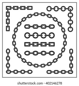Chain. Different types of chains. The circle of chains. Frame chain