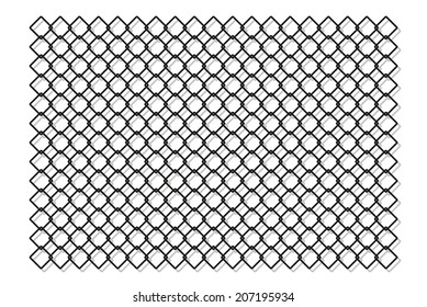 chain fence with shadow on white background, isolated, vector