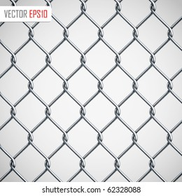 Chain Fence. Vector illustration