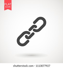 Chain Icon in trendy flat style isolated on grey background. Connection symbol for your web site design, logo, app, UI. Vector illustration, EPS10.