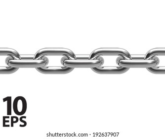 Chain isolated. Seamless. Vector illustration