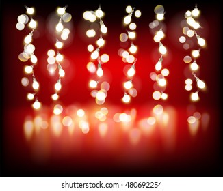 Chain of lights. Vector illustration.