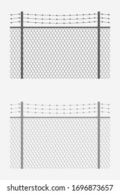 chain link fence barb wire