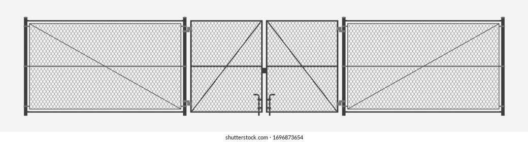 chain link fence with gates