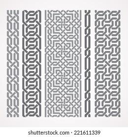 Chain links in islamic pattern