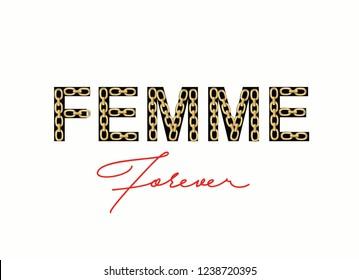 chain slogan femme