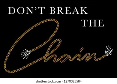 chain with slogan, vector slogan graphic