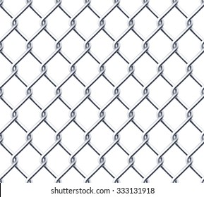 Chain wall on white background