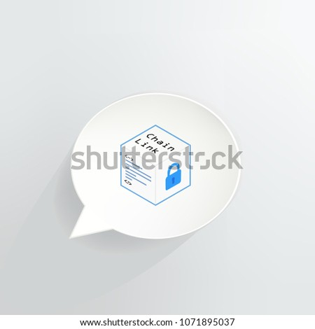 Chain Link Cryptocurrency Coin Speech Bubble Stock Vector (Royalty