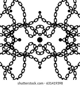 Chains background seamless pattern.