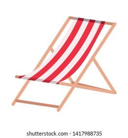 chair beach summer isolated icon