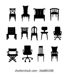 chair black symbols