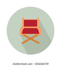 chair director flat icon - From Movie and film icons set